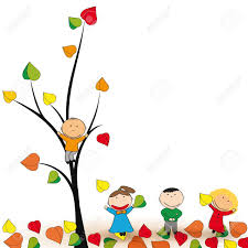 cute and happy kids play in the autumn leaves royalty free