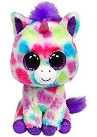 amazon ty beanie boos wishful unicorn plush toys u0026 games