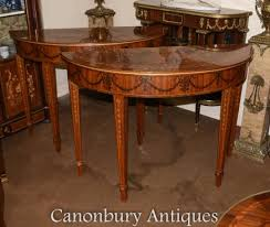Demilune Console Table Demilune Console Tables Canonbury Antiques Demi Lune