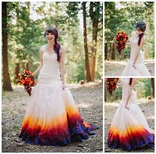 dip dye wedding dress dip dye wedding dress for your wedding in spain marbella wedding