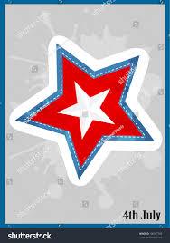 Red White Flag With Blue Star Red Blue White Star Splash On Stock Vector 196957760 Shutterstock