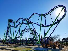 Texas Giant Six Flags Six Flags Over Texas The Joker Construction Update 6 U2013 Coaster