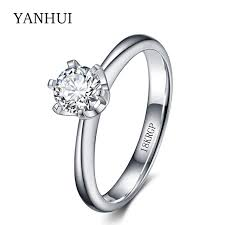 aliexpress buy anniversary 18k white gold filled 4 18krgp st original gold ring set 6mm 1 carat sona cz diamant