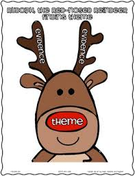rudolph red nosed reindeer finding theme freebie common