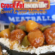 crock pot sweet u0026 sour meatballs the country cook