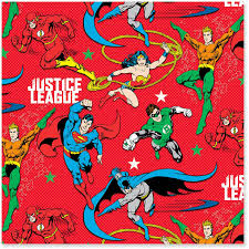 comic wrapping paper justice league jumbo christmas wrapping paper roll 80 sq ft