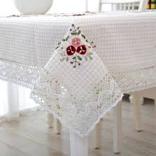 new sale handmade crochet tablecloth cover ribbon
