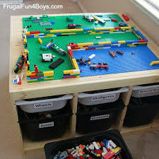 Legos Table Living With Legos Reality Based Storage And Organization Ideas