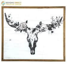 Cow Decor Wall Decor Diy Ideas Pinterest Gold Mandala Magnolia Steer Skull