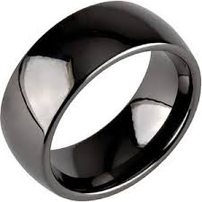 black wedding ring 8mm classic dome black ceramic ring black wedding ring