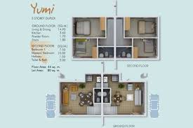 Yumi Floor L Cebu City Real Estate 2 Storey Duplex House For Sale Yumi