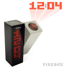 Clock That Shines Time On Ceiling by Daylight Projection Clock Firebox