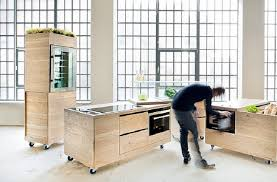 furniture in the kitchen studio rygalik s modular foodlab kitchen on wheels brings cooking