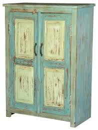 julian blue u0026 green reclaimed wood storage cabinet farmhouse