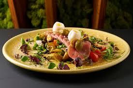 restaurant cuisine nicoise tuna carpaccio nicoise salad picture of signature restaurant