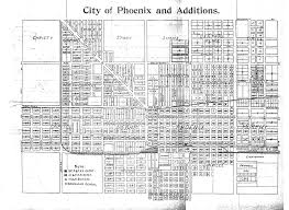 Arizona City Map by History Adventuring How The Grid System Of The Streets Of Phoenix