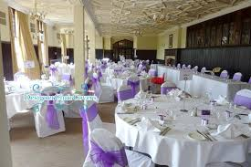 Purple Chair Covers White Chair Covers With Cadbury Purple Organza Sashes Designer