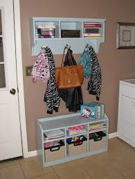 Small Hallway Bench by Coat Hooks With Storage Baskets To Organize Your Stuffs U2013 Wall