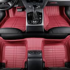 Panamera Red Interior Custom Car Floor Mats For Porsche All Model 911 Cayman Cayenne