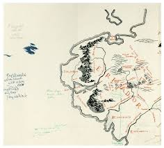 Map Middle Earth Map Of The Middle Earth With Tolkien U0027s Annotations Found