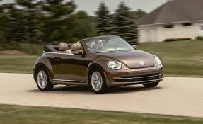 volkswagen beetle trunk in front 2014 volkswagen beetle convertible tdi test u2013 review u2013 car and driver