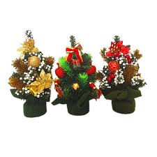1pcs tree decoration high quality mini artificial