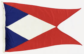 Flag Triangle House Flag United Fruit Corporation Inc National Maritime Museum