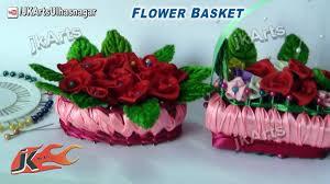 Miniature Flower Vases How To Make Miniature Flower Basket Of Soap And Ribbon Jk Arts