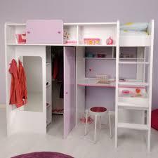 Schlafzimmerschrank Mit Eckschrank Mädchenzimmer Hochbett Weiß Lila Jasmina Kinderbetten