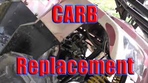 Wildfire 300 Atv Review by How To Replace Carb Chinese Made Taotao 110 Atv Youtube