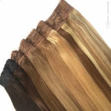 Clip In Blonde Hair Extensions by 80g Quad Weft One Piece Clip In Hair Extensions Ash Blonde Mixed