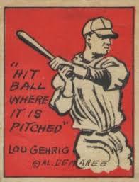 top lou gehrig baseball cards vintage rookies