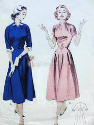 Draped Skirt Tutorial 1950s Dress Pattern Soft And Fluid Casual Dress Draped Neckline