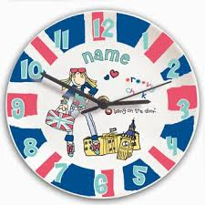 Personalized Clocks With Pictures 21 Best Kids Clocks Images On Pinterest Kids Clocks Wall