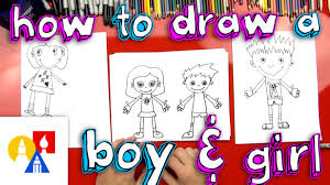 how to draw a boy and a youtube