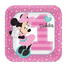 minnie mouse 1st birthday disney minnie mouse 1st birthday dessert plates 8