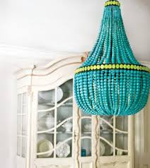 Beaded Chandelier Diy Diy Tutorial Turquoise Bead Chandelier A Storied Style