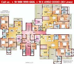 penthouse floor plans apartments 5br house plans floor plan parsvnath la tropicana