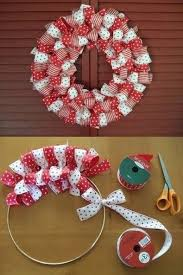 how to make a ribbon wreath diy cozy home