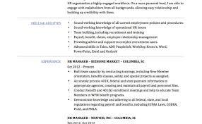 recruitment specialist resume resume for hr manager sample delightful design hr resume
