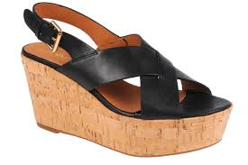 alpe black leather crossover wedge sandal alpe shoes boots u0026 sand