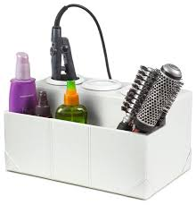 Styling Stations And Cabinets White Crocodile Leatherette Hair Styling Station Transitional