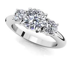engagement ring design design your own three diamond engagement ring