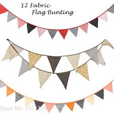 2016 new baby shower party decoration handmade fabric flags