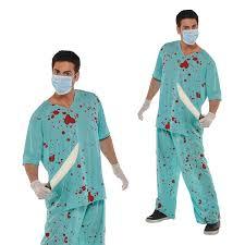 halloween scrubs christys dress up unisex bloody scrubs hospital halloween fancy
