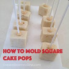 how to make square cake pops tutorial seven little monkeys