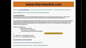 Difference Between Application And Resume Explain Java Garbage Collection Job Interview Question And Answer