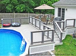 home dek decor marvelous wood pool deck designs home and interior gallery also oval