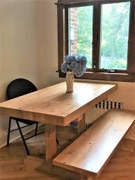 hand made rustic farmhouse trestle farm butcher block style dining