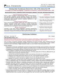 Ceo Resume Example Awesome And Beautiful Cio Resume 1 Cio Resume Chief Information